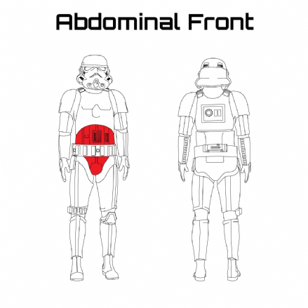 ORIGINAL STORMTROOPER ARMOUR PARTS [Abdominal Front]